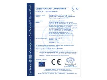 LED Fluorescence Illuminator CE Certificate-EMC