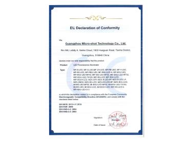 LED Fluorescence Illuminator EU Certificate