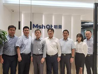 Olympus Science Division cooperator visit MICRO-SHOT